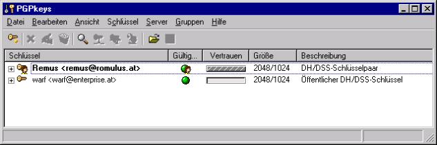 schlüsselmanagement software freeware